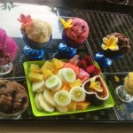 Colourful(flavourful ice-cream n rojak (fruit salad)