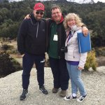 My hubby Dan, our tour guide Justin and myself at one of the location sites for LotR.