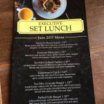 Executive Lunch Menu