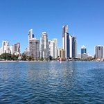View of Surfers Paradise from canal cruise. Perfect day.