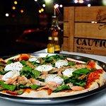 Pizza Salmone e Rúcula