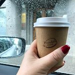 How cool are these hand stamped take away coffee cups?