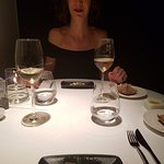 Tasting menu with paired wines - razor clams