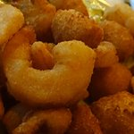 Side of fried shrimp and scallops