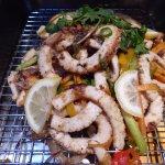 Seared calamari