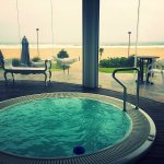 seaside spa .. lovely hot tub, lovely views, welcoming reception, complementary coffee with a sm