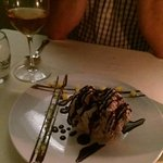 Then special chocolate dessert