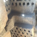 These are pigeon holes where they housed the pigeons which were a source of food during the seig