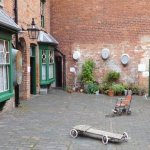 Inner courtyard of the back to back housing