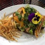 Chicken coriander open sandwich