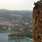 Rock Climbers on Cap Canaille.