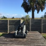 canon overlooking entrance to altamaha river