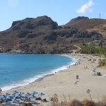 Local Damnoni Beach, 3 mins drive from hotel
