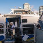 Our water taxi - NOT a river cruise