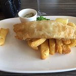 Fish and chips with a delicious caper based tartare sauce