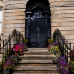 The front door of the Glasgow Society of Lady Artists designed by Charles Rennie Mackintosh.