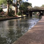 walking on on the river walk from the hotel