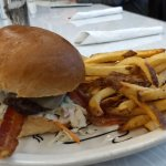 The burger of the day, Bacon Cheeseburger with slaw