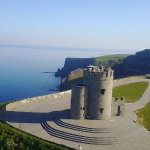 O Brien's Tower at the spectacular Cliffs of Moher.