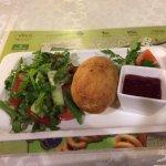 Chicken Kiev with Georgian salad