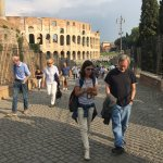 Rob and Elisa walking through the Roman Forum