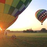 watching balloons take off!