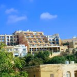 The view of the hotel when walking up from the port of Mgarr
