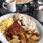 Hub Cake and Biscuit & Gravy Special