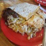 half a burrito (barbacoa)