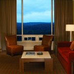 One Bedroom Suite Living Room at Great Cedar Hotel at Foxwoods