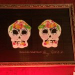 Rorschach sugar skulls painting for sale