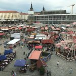 View of harvest fair from our room facing Altmarkt square