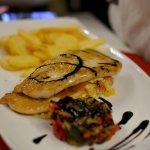Chicken with gorgonzola and prosciutto