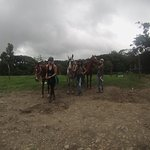 Me and my friends with the horses!