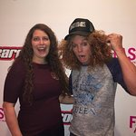 My friend with Carrot Top at a Meet and Greet before the show.