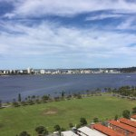 View of the Swan river from the top of the hotel