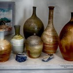 Paintings, stained glass wall hangings, pottery, hand blown glass vessels and more by area artis