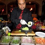 Making Tableside Guacamole at Los Dos Potrillos - Littleton (06/Oct/17).