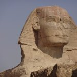 The Sphinx with it's broken nose that was 1.0 m wide!