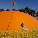 Loads of fun on the giant orange