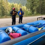 Getting ready to go rafting