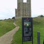 Orford Castle Keep approach from the Car Park, note the many steps. Lots of climbing!