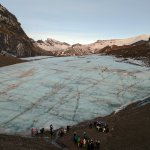 Start of the glacier walk!