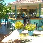 Bar by poolside