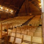 The interior of the cavernous and simply unique Snape Maltings Concert Hall