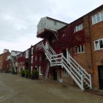 The public front of Snape Maltings from the West