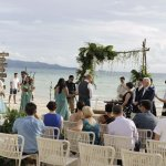 Stunning set up for wedding ceremony on the beach