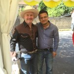With Damien Hirst