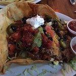 Generous taco salad