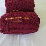 Welcome towel arrangment